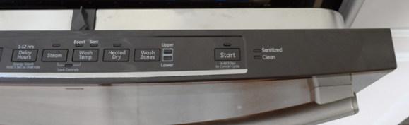 GE Dishwasher Control Panel