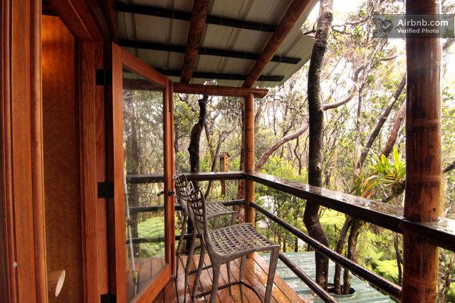 Mahinui Na Lani Treehouse at Kilauea Volcano, Big Island of Hawai'i, just east of Hawaii Volcanoes National Park