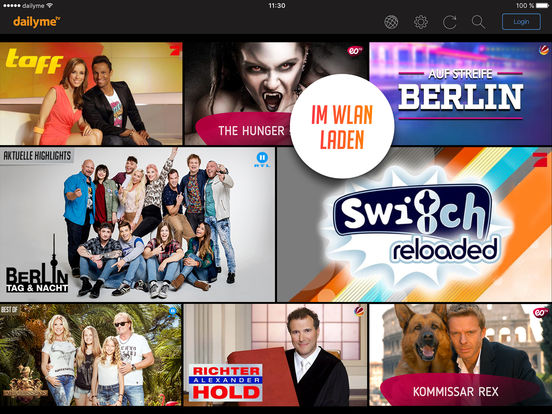 dailyme TV – Serien, Filme & Shows für unterwegs Screenshot