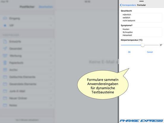 Textbausteinverwaltung PhraseExpress Screenshot