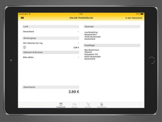 DHL Paket Screenshot