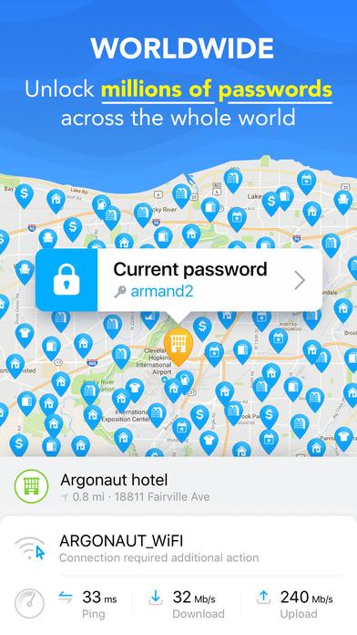 WiFi Map Pro - Get Passwörter für freies Wi-Fi Screenshot