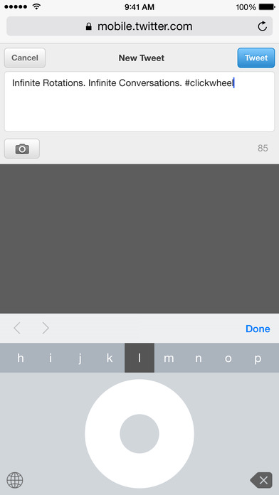 Click Wheel Keyboard Screenshot