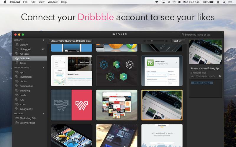 Inboard for Mac 1.0.10 激活版 - 集成Dribbble的强大素材管理器