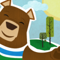 Mr. Bear kids games in the forest - Puzzle for tots, toddlers and preschoolers free