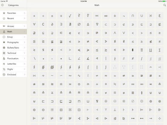 Symbols — special text characters IPA Cracked for iOS Free