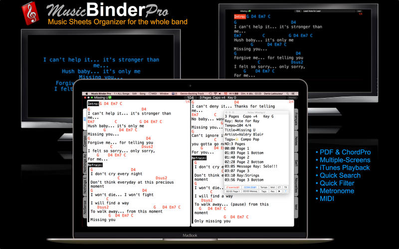 Music Binder Pro for Mac 3.5 破解版 - 现场音乐播放工具