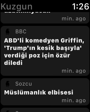Kuzgun - Choose News Source, Last Minute News Screenshot