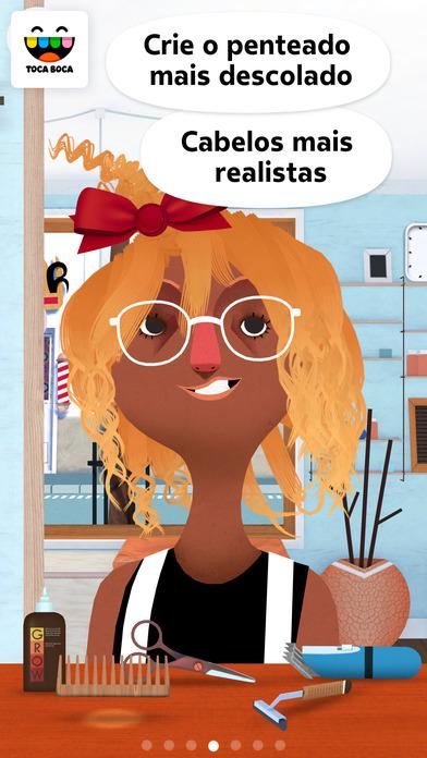 Screenshot do app Toca Hair Salon 2