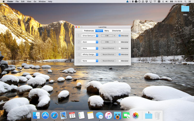 Launchey for Mac 1.1.5 激活版 – 菜单栏快捷工具