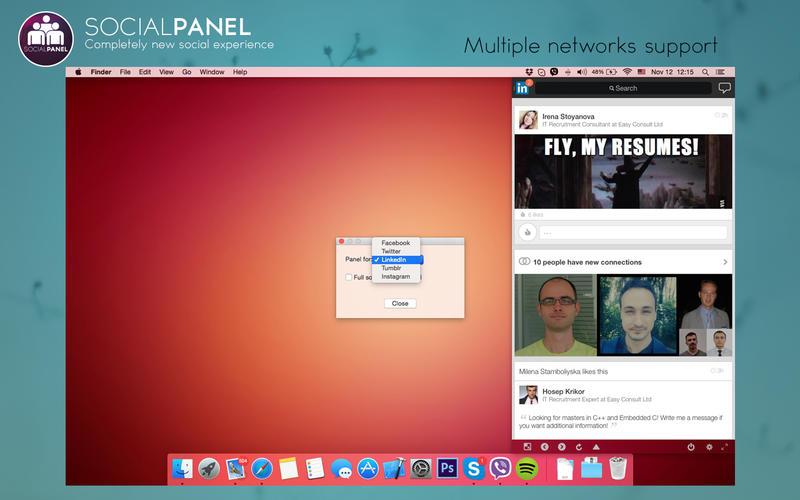 SocialPanel for Mac 1.3.8 激活版 - 国外社交网络多合一工具