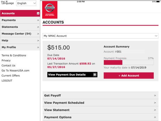 ... Nissan Motor Acceptance Corporation Phone Number Bill Matrix