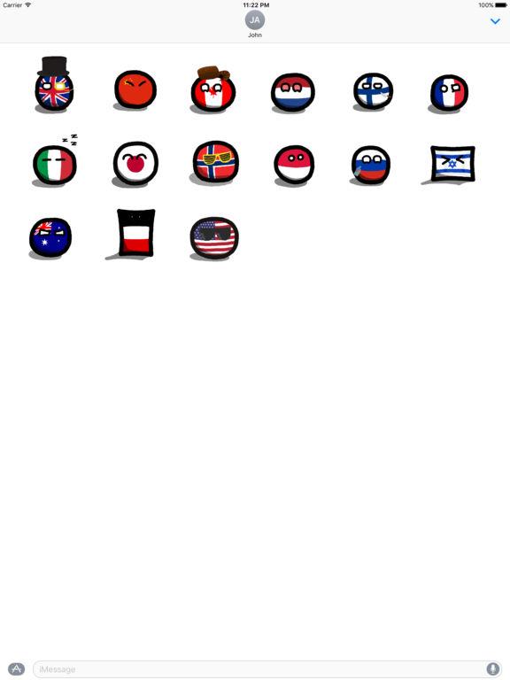 Polandball stickers for iMessage by Maciej Kowalski