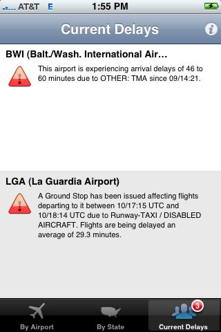 preFlight - Airport Delay Status