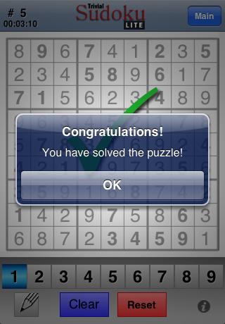 Trivial Sudoku Lite