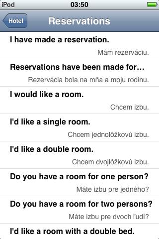 Jourist Visual PhraseBook Slovak