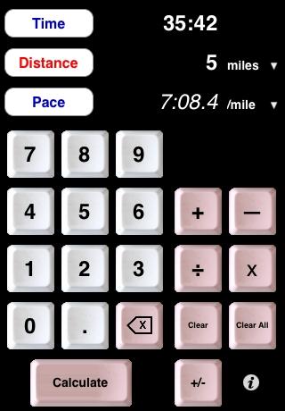 The Athlete's Calculator