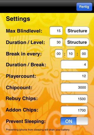 Poker Blind Timer