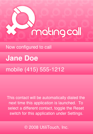 Mating Call (Female) — Speed Dial