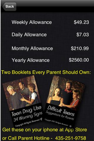 Allowance Calculator
