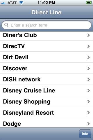 Phone Tree Navigator - Direct Line