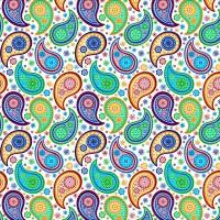 Colorful Vintage Paisley Soft Blue Background Canvas Print ...