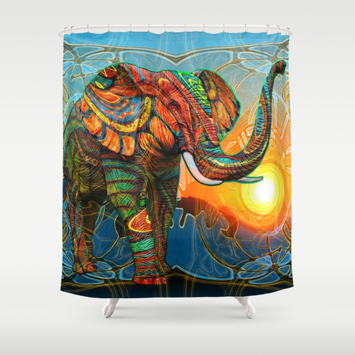 Elephants Dream Shower Curtain by Waelad Akadan  Society6