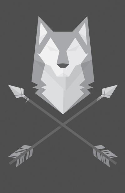 Geometric Wolf Art Print by Nate Xopher  Society6