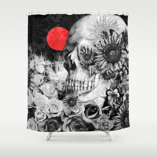 Fire in the dark nature skull Shower Curtain by Kristy Patterson Design  Society6