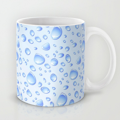 Clear Water Drops Pattern - mug  / 11 OZ - $15.00