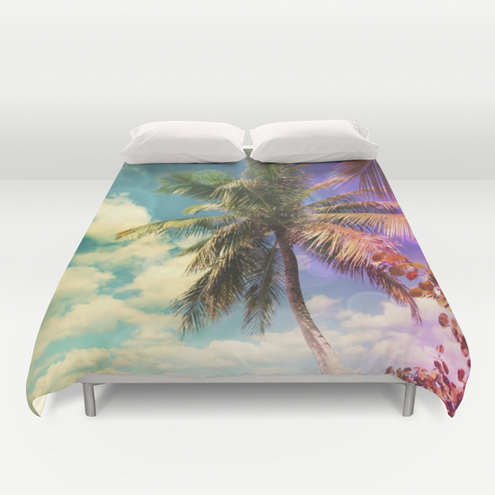 Prismatic Palm Duvet Cover by Christine aka stine1 on Society6