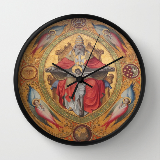 Cologne Cathedral - Altar of the Poor Clares Wall Clock black/black by Christine aka stine1 on Society6