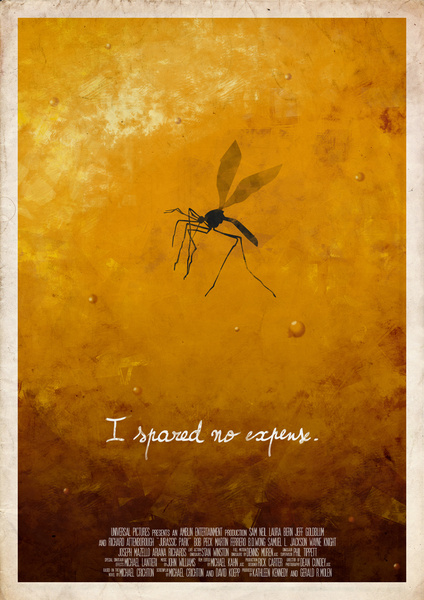 Jurassic Park  minimalist poster mosquito Art Print by