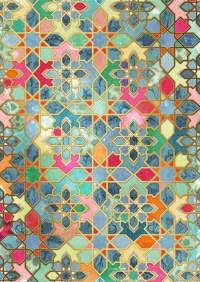 Gilt & Glory - Colorful Moroccan Mosaic Art Print by ...