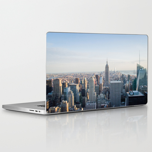 Tower Empire State Building Laptop Skin Cover Photography Society6 Jessica Pei