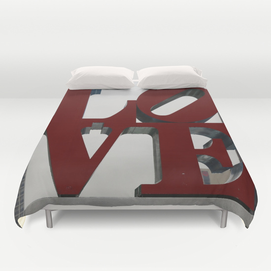 Love Philadelphia Sculpture Duvet Cover by Christine aka stine1 on Society6