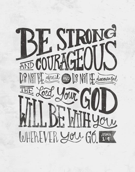 Joshua 1:9 Art Print