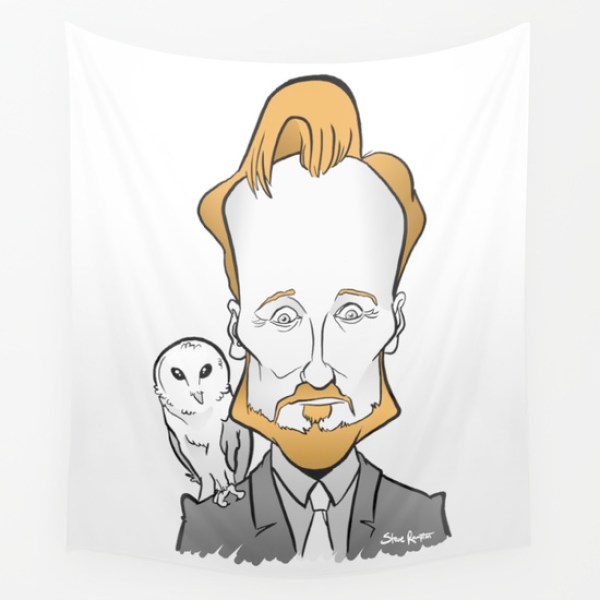 Conan O'Brien with a Barn Owl