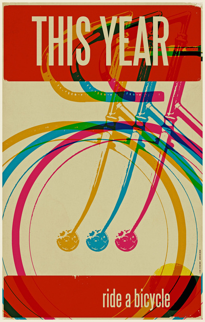 This year art print from society 6 about bikes.
