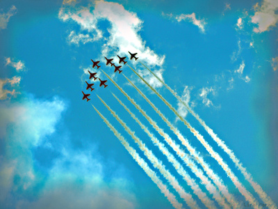 Air Show (Red Arrows) Art Print
