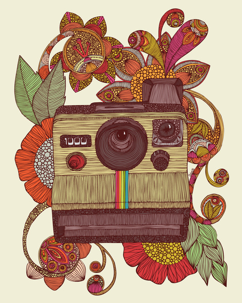 polaroid camera illustration