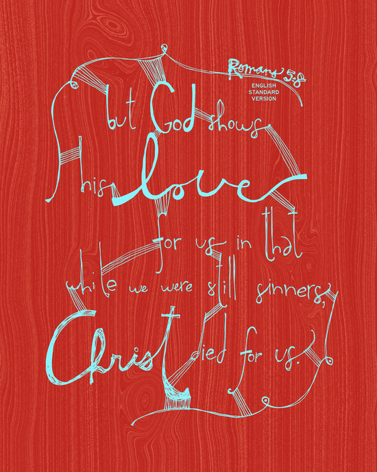 Romans 5:8 Canvas Print