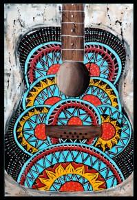 Retro Guitar Art Print by Tara Richelle | Society6