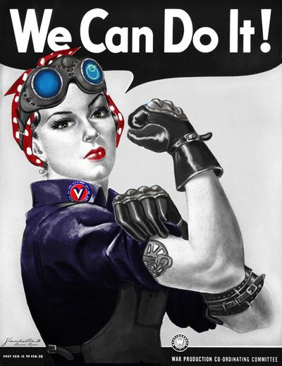 Dieselpunk Rosie The Riveter -