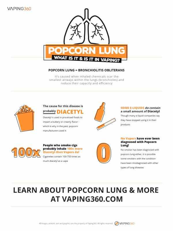 Popcorn lung vaping diacetyl