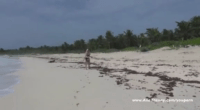 Ana Mancini Getting Off At The Beach