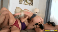 Two Euro Blondies Having Anal Orgy