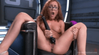 Hot Blonde Experiments With Machine-Fuck Toys