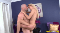 Flexible Blonde Female Entertained With Fat Cock