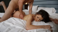 Horny Girl Spreads Herself Well For Spoons Sex
